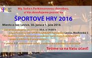 Spoločnosť Parkinson Slovensko pozýva na Športové hry 2016